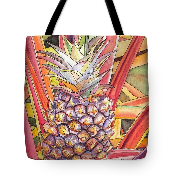 Pineapple Tote Bag by Marionette Taboniar