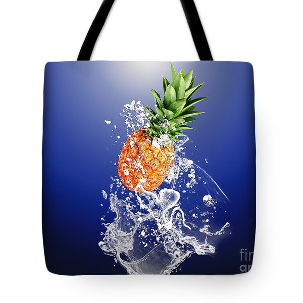Pineapple Splash Tote Bag by Marvin Blaine