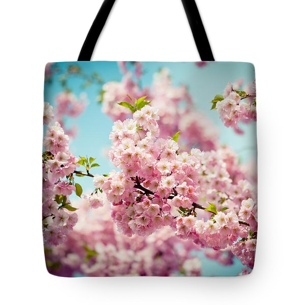 Pink Cherry Blossoms Sakura Tote Bag