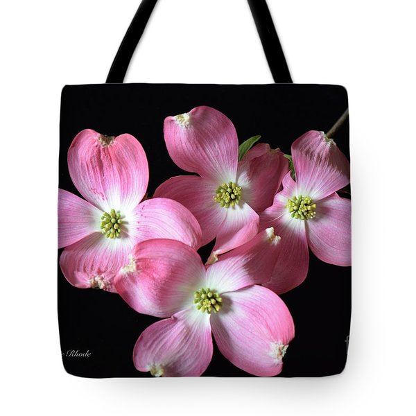 Pink Dogwood Branch Tote Bag