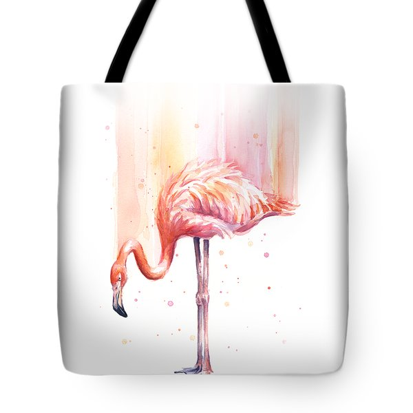 Pink Flamingo - Facing Right Tote Bag by Olga Shvartsur