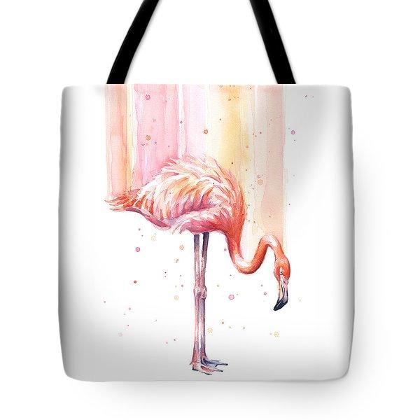 Pink Flamingo - Facing Right Tote Bag