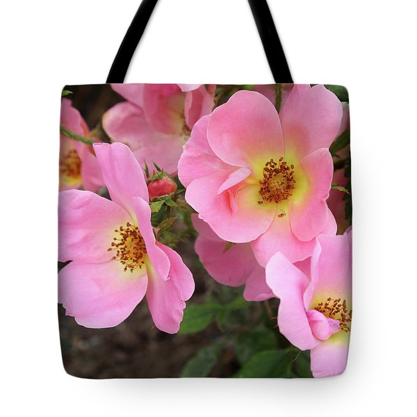 Pink Knockout Roses Tote Bag