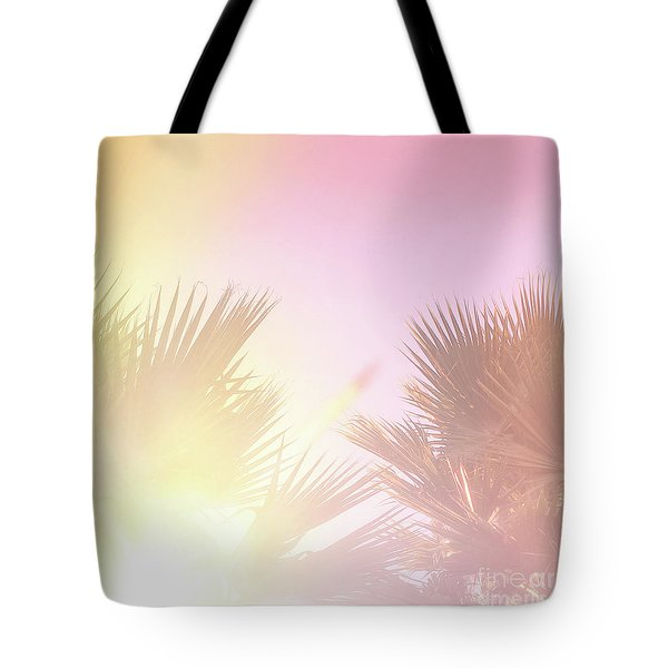 Tote Bag featuring the photograph Pink Palms 2 by Cindy Garber Iverson