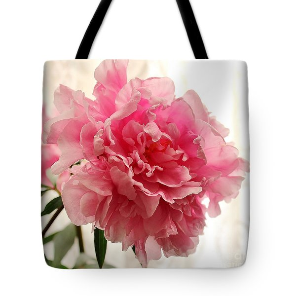 Pink Peony 2 Tote Bag by Katy Mei