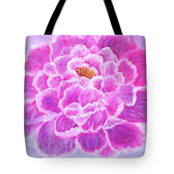 Tote Bag featuring the painting Pink Peony by Sonya Nancy Capling-Bacle