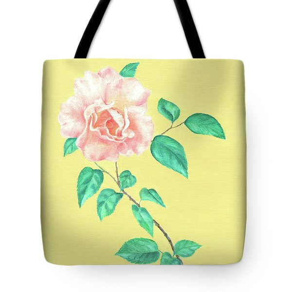 Tote Bag featuring the painting Pink Rose by Elizabeth Lock