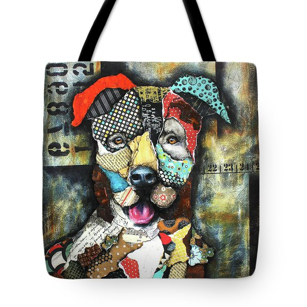 Pit Bull Tote Bag by Patricia Lintner