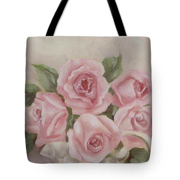Pitcher Of Roses Tote Bag