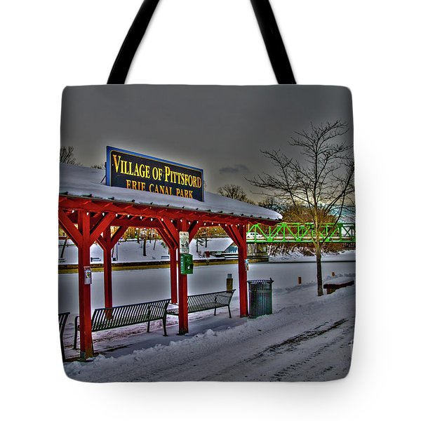 Pittsford Canal Park Tote Bag