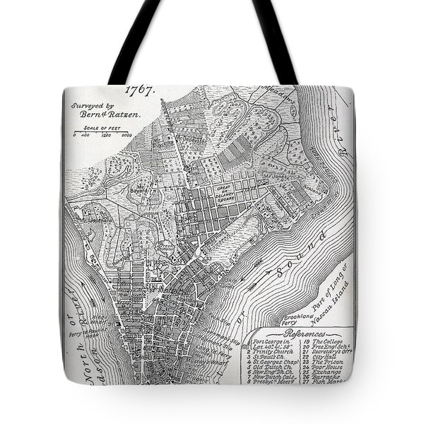 Plan Of The City Of New York Tote Bag by American School