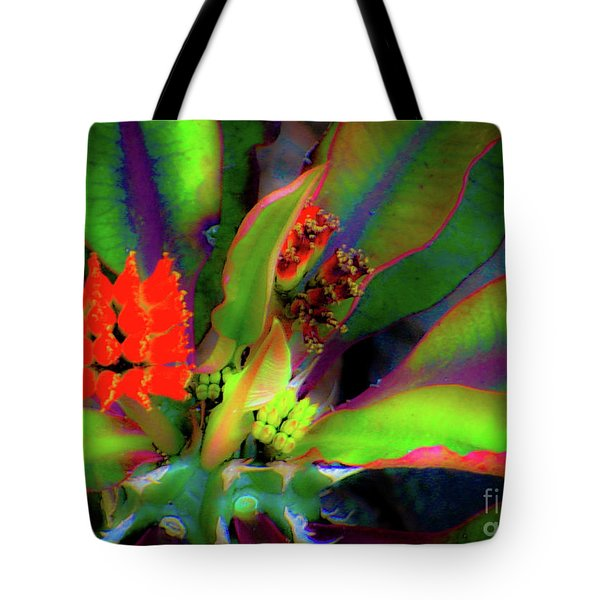 Plants And Flowers In Hawaii Tote Bag