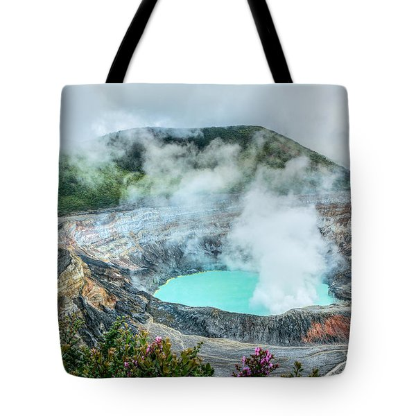 Tote Bag featuring the photograph Poas Volcano, Costa Rica by RC Pics
