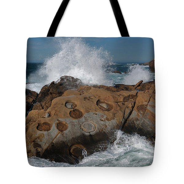 Point Lobos' Concretions Tote Bag
