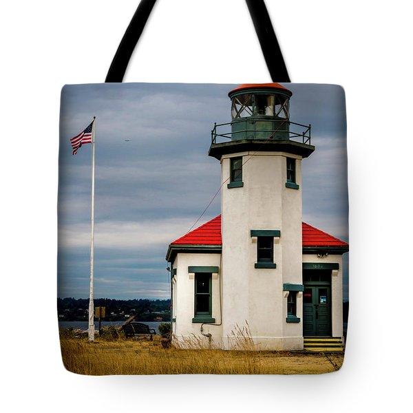 Point Robinson  Lighthouse,vashon Island.wa Tote Bag