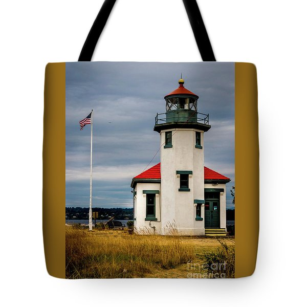 Point Robinson  Lighthouse,vashon Island.wa Tote Bag