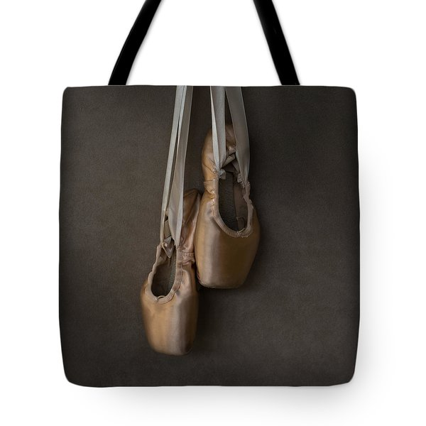 Tote Bag featuring the photograph Sacred Pointe Shoes by Laura Fasulo