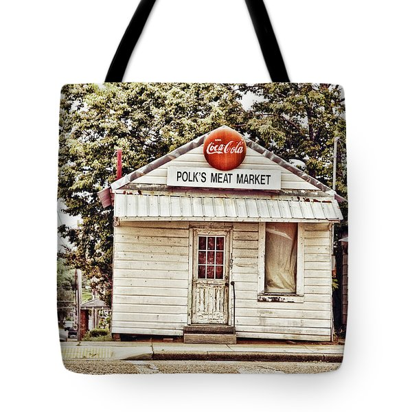 Polk's Meat Market Tote Bag by Scott Pellegrin