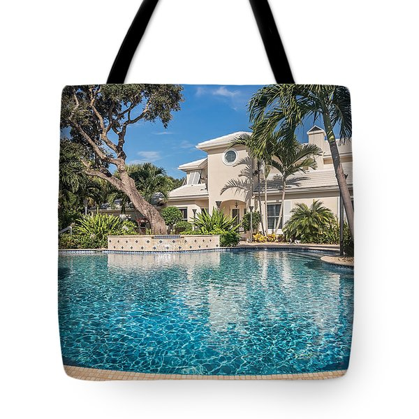 Pool Home Tote Bag