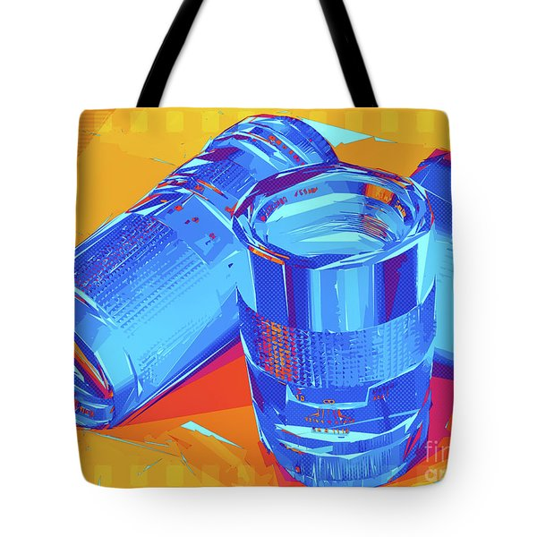 Pop Art Camera Lenses Tote Bag