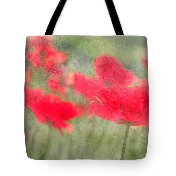 Poppies Tote Bag by Catherine Alfidi