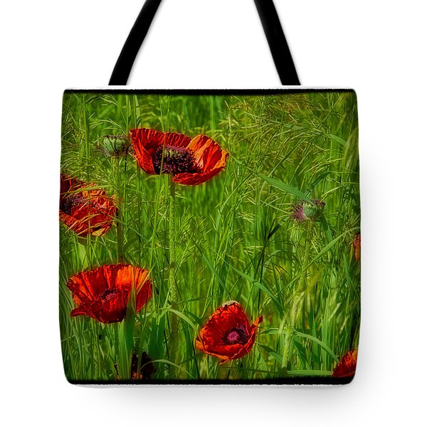 Poppies Tote Bag by Hugh Smith