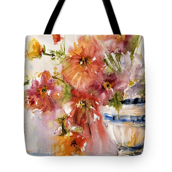 Poppies Tote Bag by Judith Levins