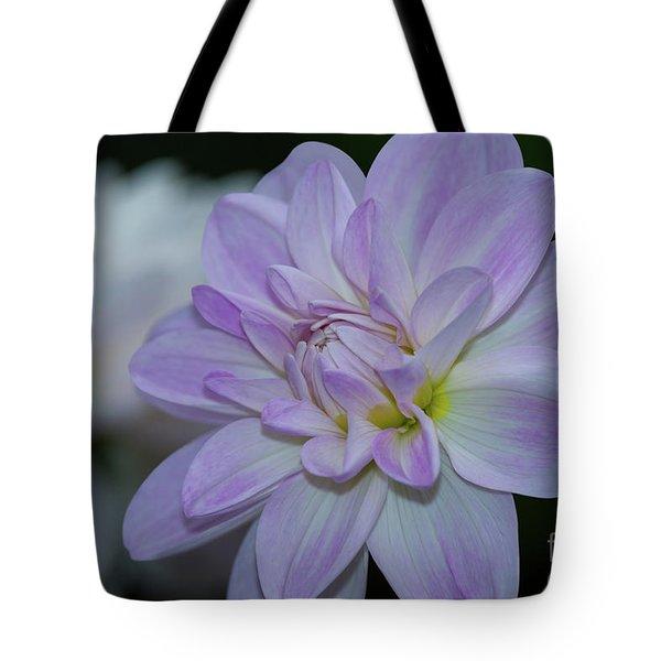 Porcelain Dahlia Tote Bag