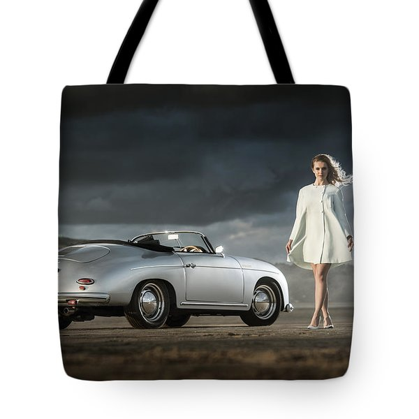 Porsche 356 Speedster With Model Tote Bag