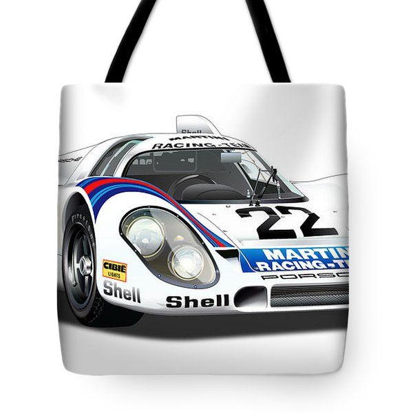 Porsche 917 Illustration Tote Bag