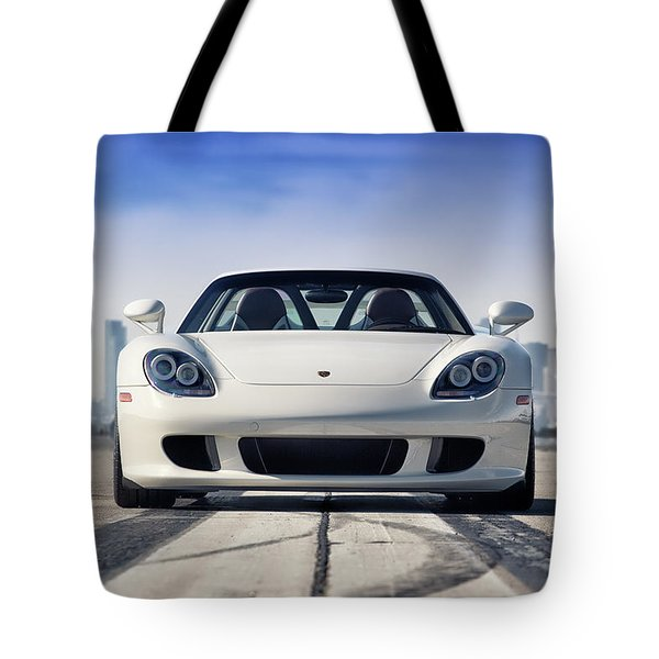 Tote Bag featuring the photograph #porsche #carreragt by ItzKirb Photography