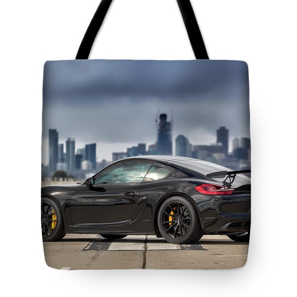 Tote Bag featuring the photograph #porsche #cayman #gt4 by ItzKirb Photography