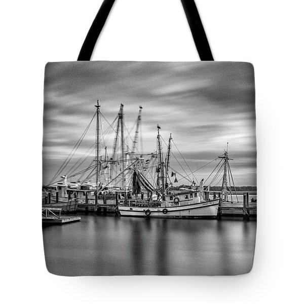Port Royal Shrimp Boats Tote Bag