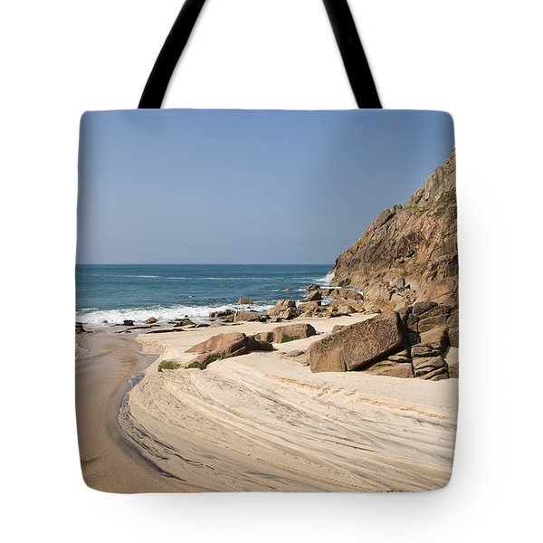 Portheras Beach In Nw Cornwall Tote Bag