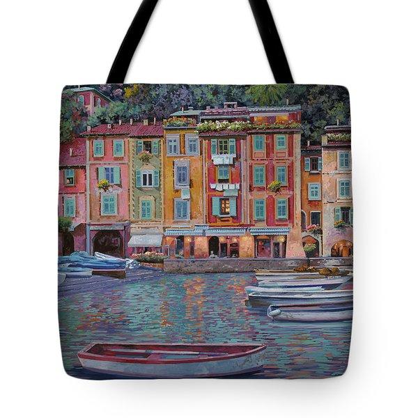 Portofino Al Crepuscolo Tote Bag by Guido Borelli