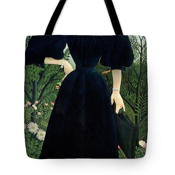 Portrait Of A Woman Tote Bag by Henri Rousseau