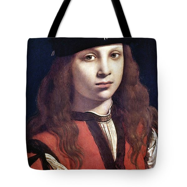 Tote Bag featuring the painting Portrait Of A Youth by Granger