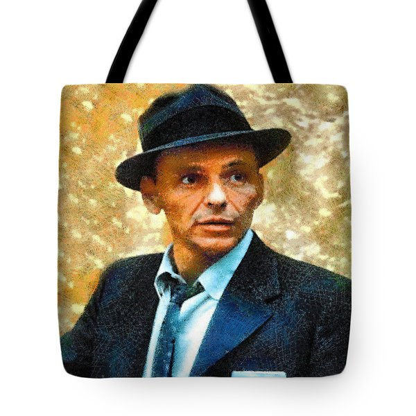 Portrait Of Frank Sinatra Tote Bag