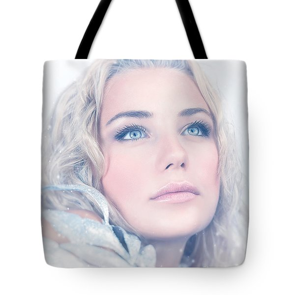 Portrait Of Gorgeous Female Tote Bag