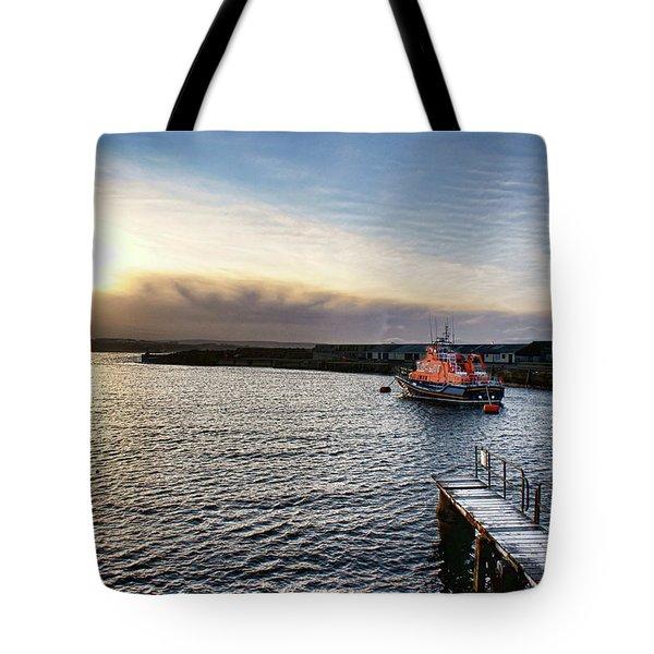 Portrush Rnli Lifeboat Tote Bag