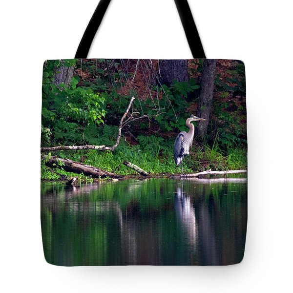 Posing Great Blue Heron  Tote Bag