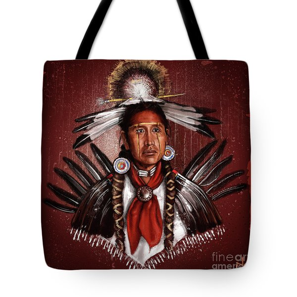 Pow Wow Dancer Tote Bag