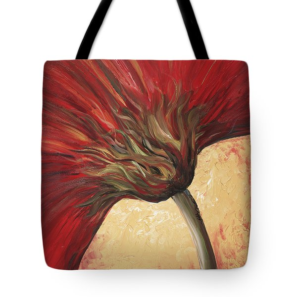 Power Of Red Tote Bag by Nadine Rippelmeyer
