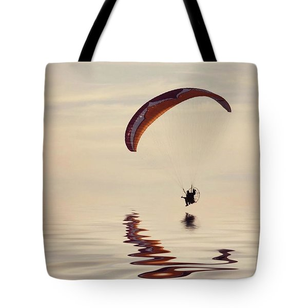 Powered Paraglider Tote Bag by John Edwards