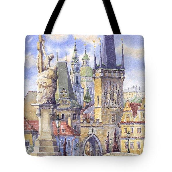 Prague Charles Bridge Tote Bag