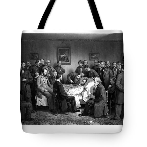 President Lincoln's Deathbed Tote Bag