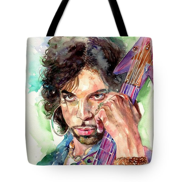 Prince Rogers Nelson Portrait Tote Bag