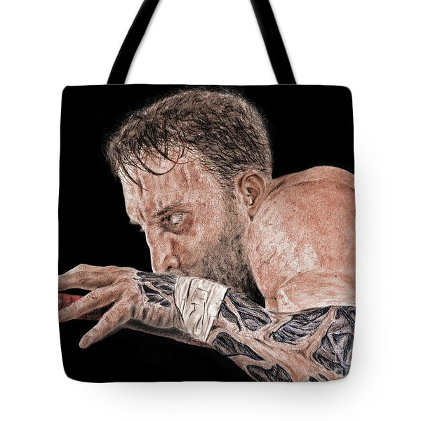 Pro Wrestler Chris Masters Planning His Move Tote Bag