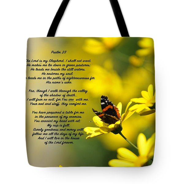 Psalm 23 Tote Bag by Debby Pueschel