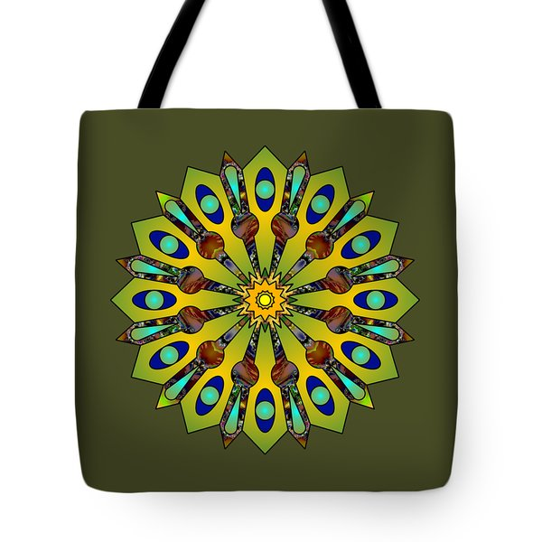Psychedelic Mandala 004 A Tote Bag by Larry Capra